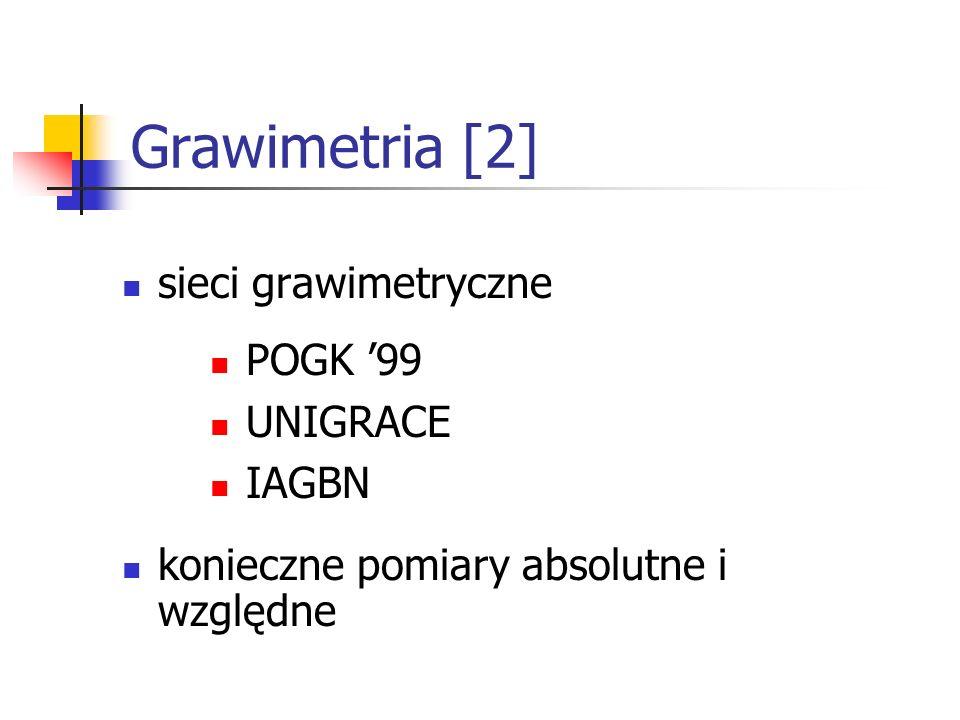 Grawimetria [2] sieci grawimetryczne POGK '99 UNIGRACE IAGBN